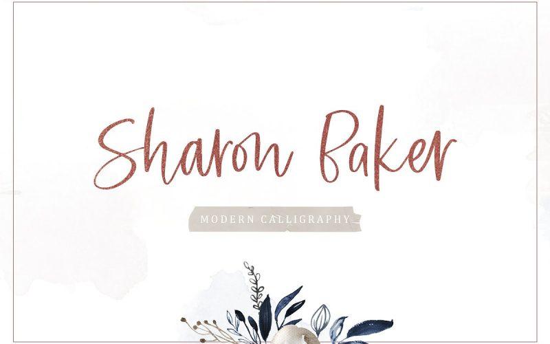 Sharon Baker Modern Script Font