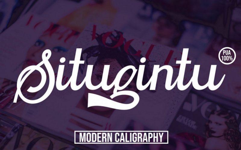 Situgintu Calligraphy Font