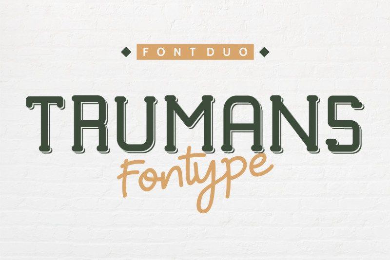 TRUMANS Duo Font Family
