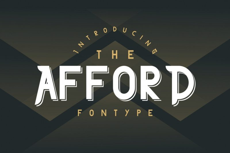 The Afford Display Font