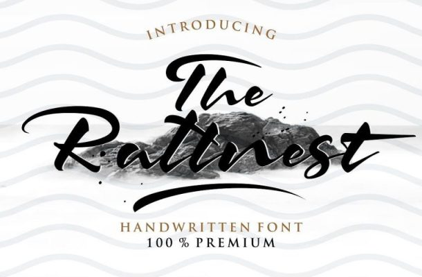 The Rattnest Brush Font