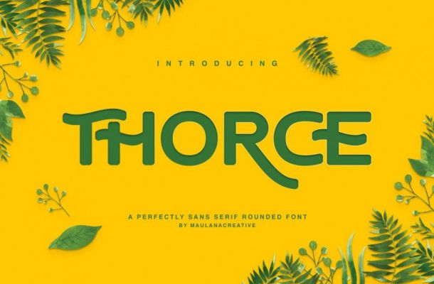 Thorce Rounded Sans Font