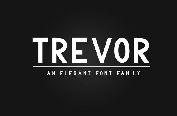 Trevor Sans Serif Font Family