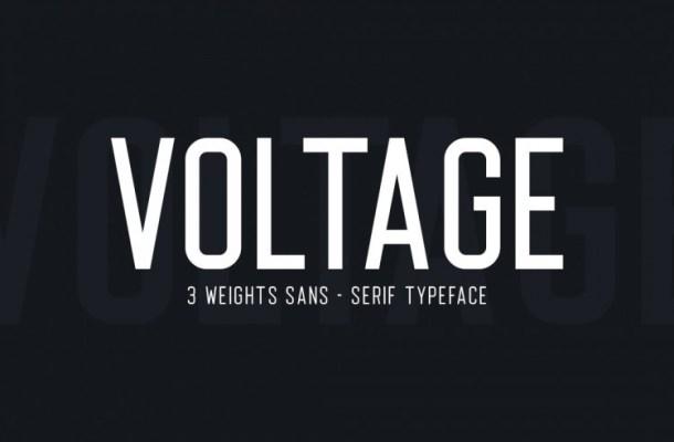 Voltage Typeface