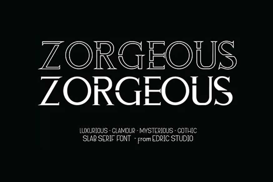 Zorgeous Font-1