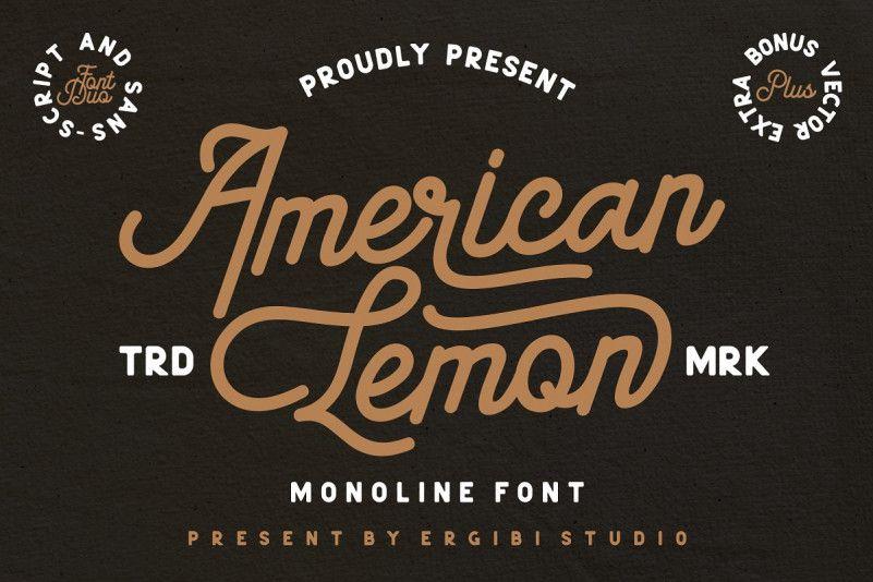 American Lemon Font Duo-1