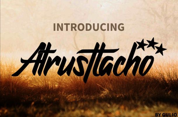 Atrusttacho Font