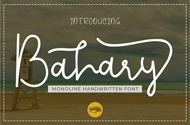 Bahary Handwritten Font