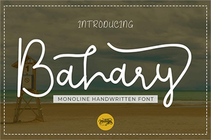 Bahary Handwritten Font-1