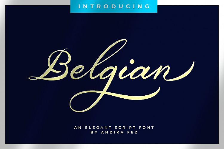 Belgian Signature Font-1