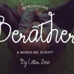 Berather Monoline Script Font