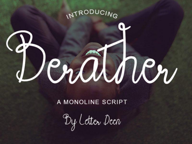 Berather Monoline Script Font-1