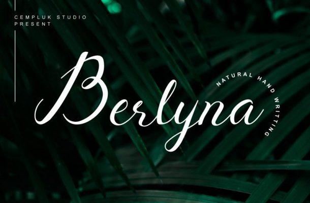 Berlyna Modern Script Font