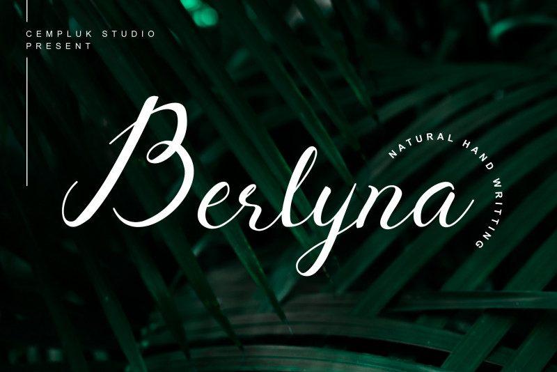 Berlyna Modern Script Font-1