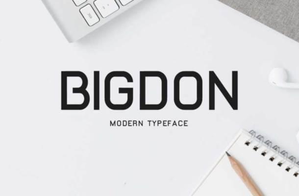 Bigdon Font