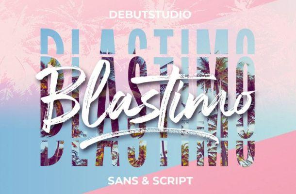 Blastimo Font Duo
