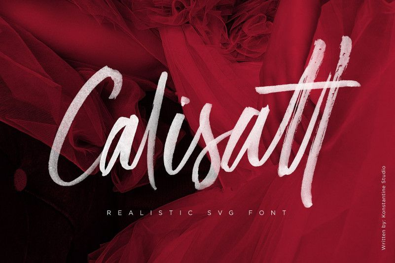 Calisatt Brush SVG Font-1