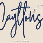 Cayttons Signature Font