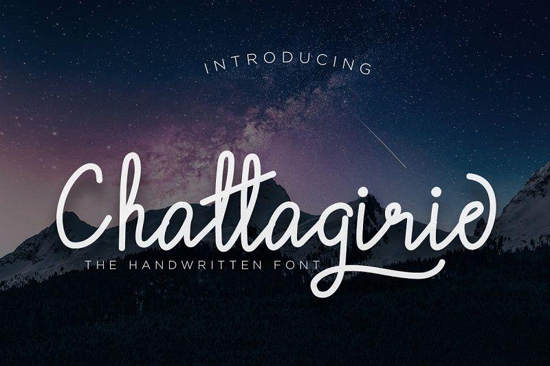 Chattagirie Handwritten Font - Dafont Free