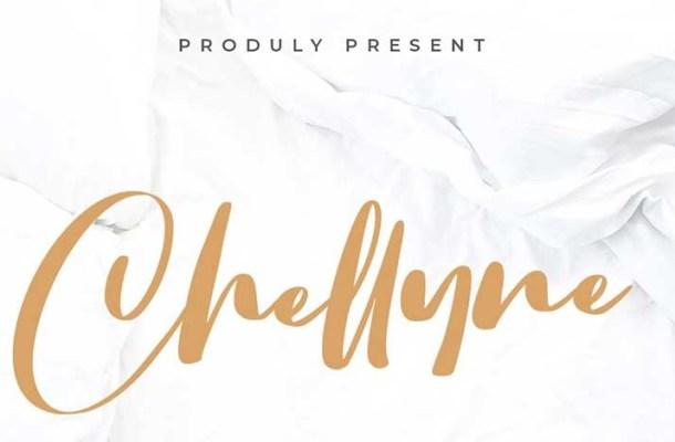 Chellyne Modern Script Font
