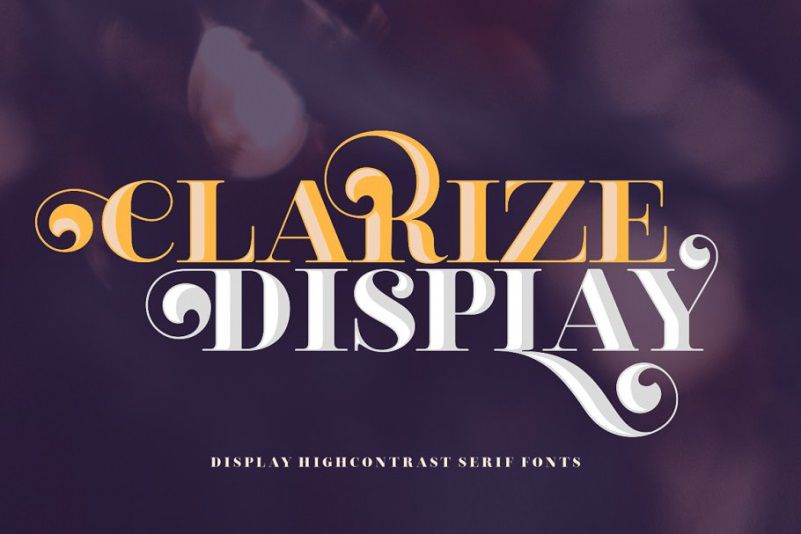 Clarize Display Font Family-1