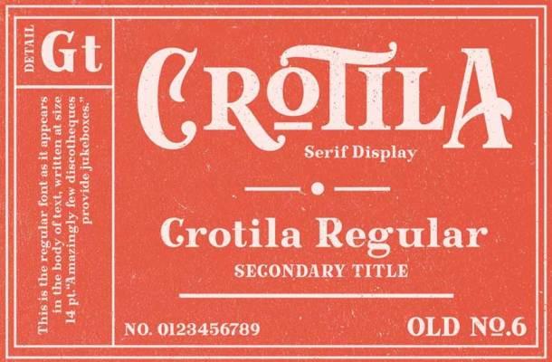 Crotila Serif Display Font