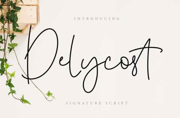 Delycost Signature Font