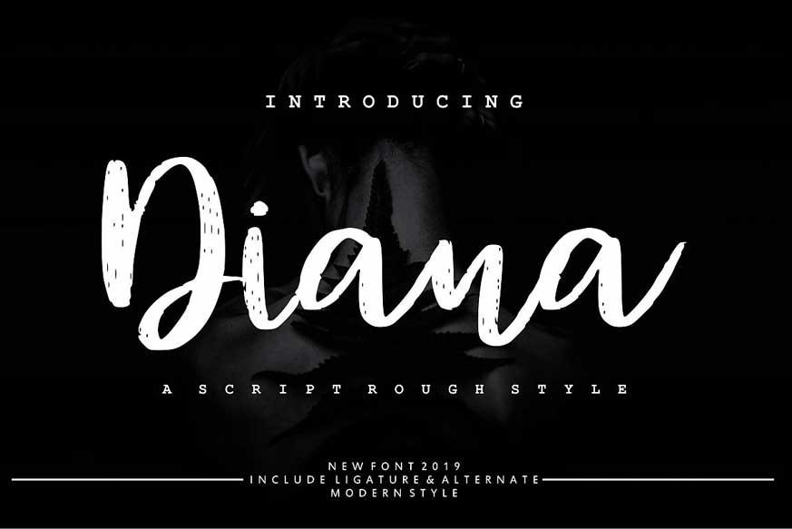 Diana Rough Font-1