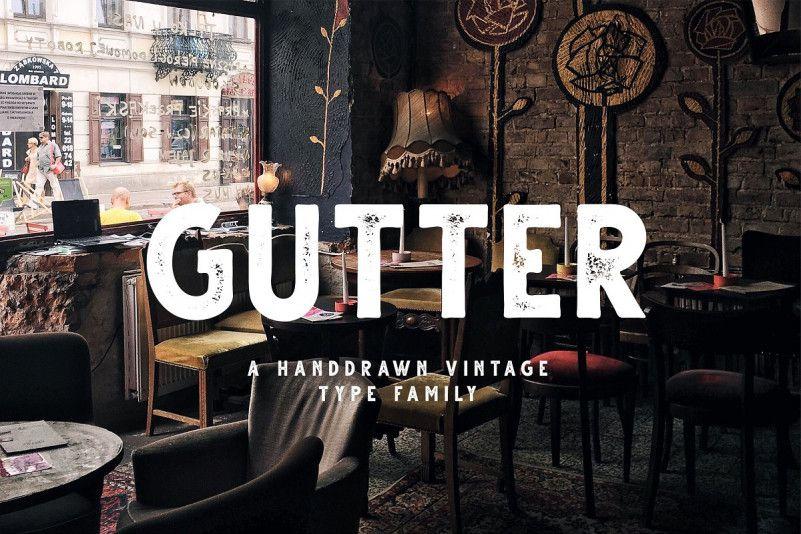 Gutter Handdrawn Sans Font Family-1
