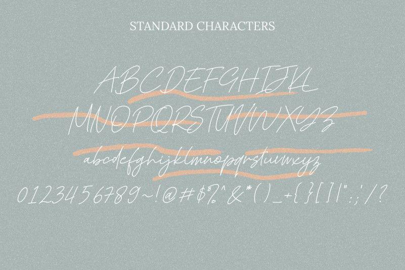 Kadung Tresno Handwritten Font-2