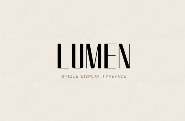 LUMEN Display Headline Typeface