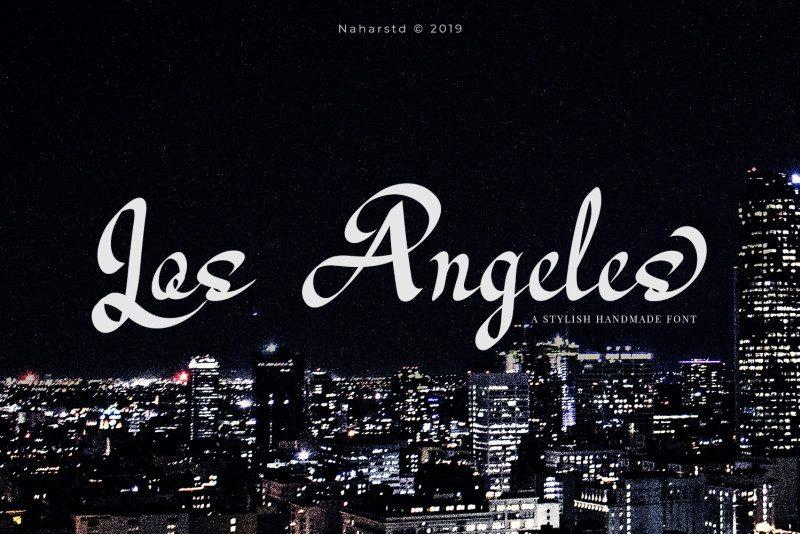 Los Angeles Modern Script Font-1