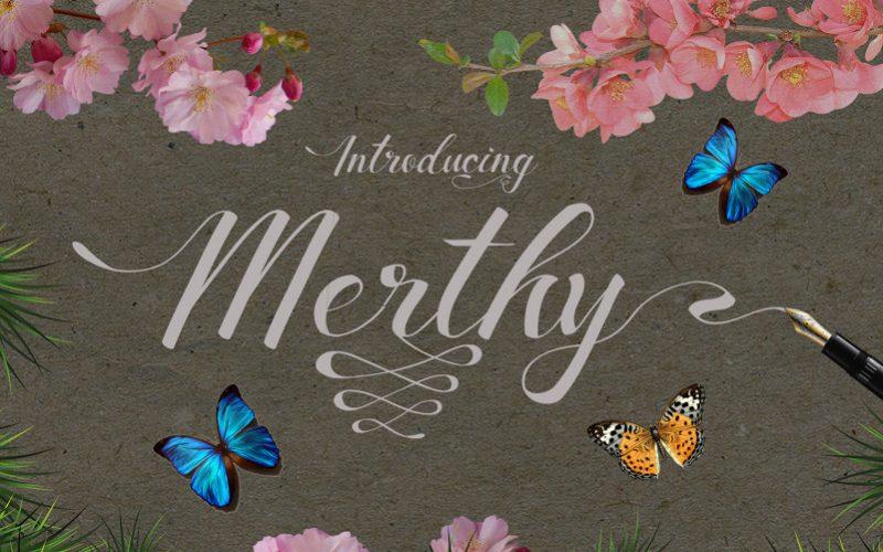 Merthy Script Font-1