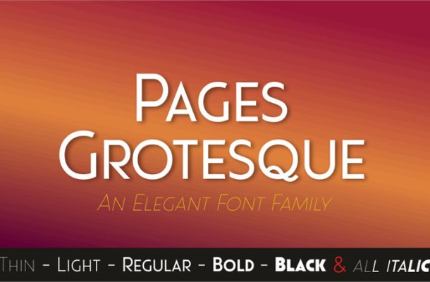 Pages Grotesque Font Family