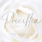Pricillia Signature Font