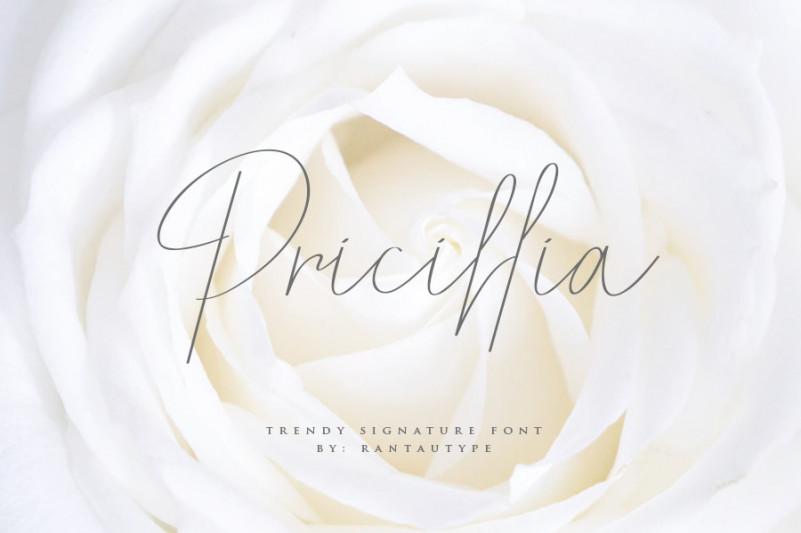 Pricillia Signature Font-1