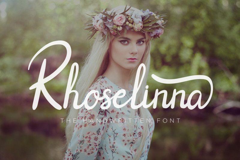 Rhoselinna Handwritten Font-1