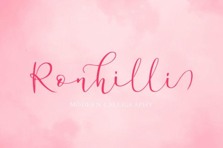 Ronhilli Script Font-1