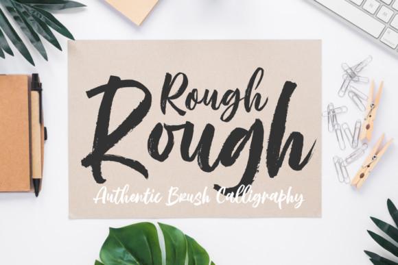 Rough Rough Brush Font