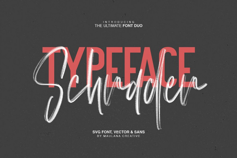 Schrader SVG Brush Font-1