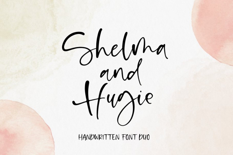 Shelma And Hugie Font Duo-1