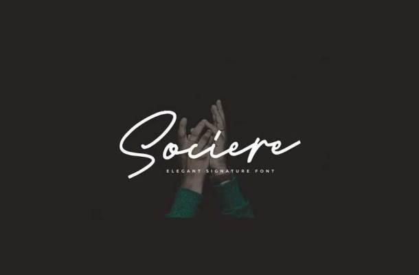 Sociere Elegant Signature Font