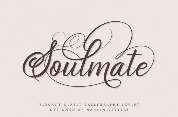 Soulmate Calligraphy Font