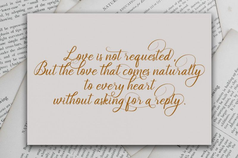 Soulmate Calligraphy Font-3