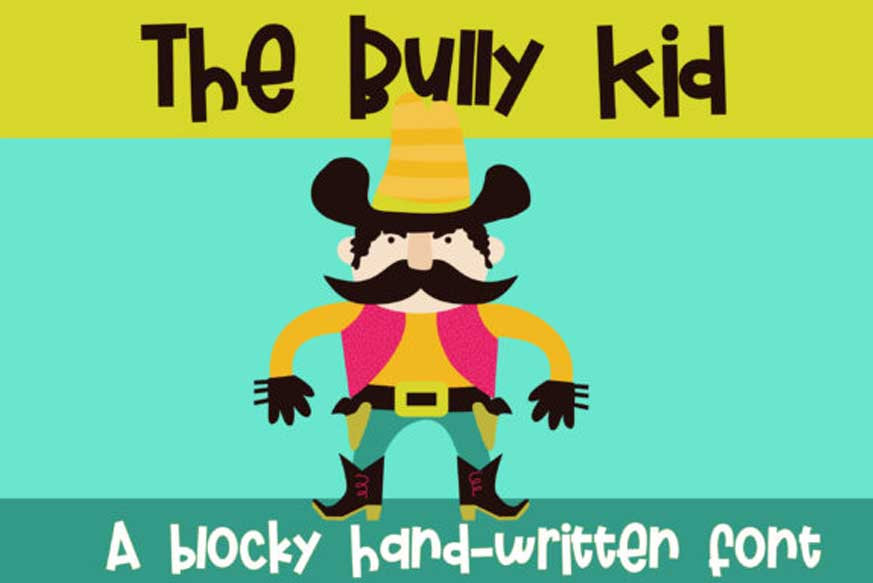 The Bully Kid Font-1