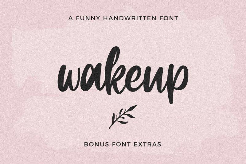 Wakeup Script Font-1