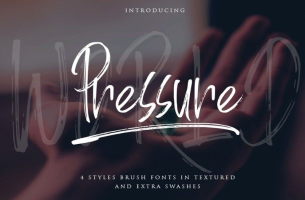 World Pressure Brush Font