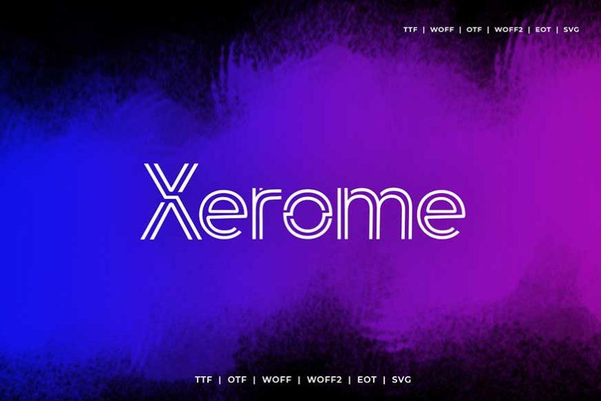Xerome Display Typeface-2