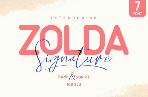 Zolda Script Sans Font Family