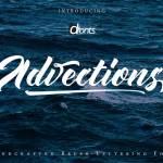Advections Brush Script Font